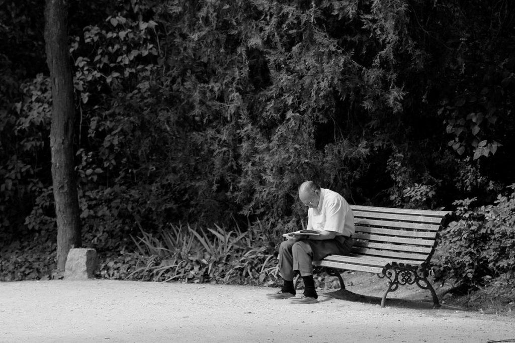 Leyendo en el parque