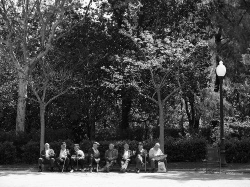 Tertulia en el parque